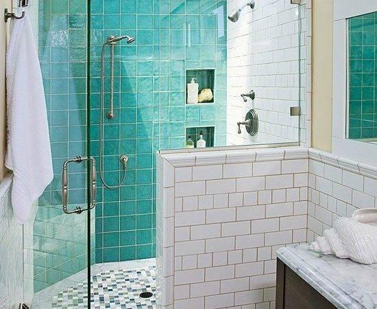 Bathroom Tile Design Ideas Turquoise Shower Floor