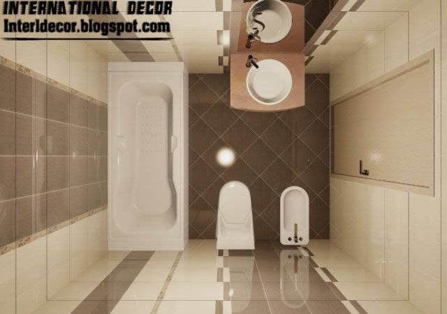 Bathroom Tiles Design Brown Cream