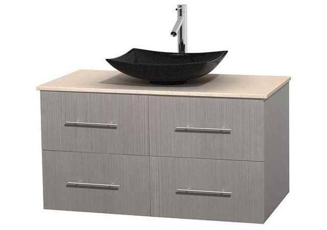Bathroom Vanity Gray Oak Arista Black Granite Sink Newegg