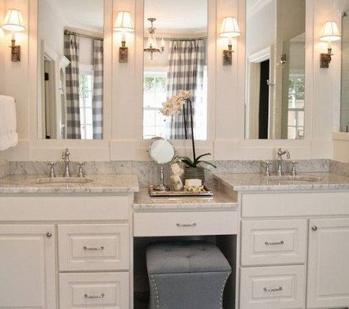 Bathroom Vanity Seating Area Master Bath Side Home