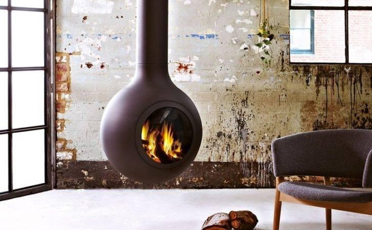 Bathysca Hublot Hanging Fireplace Slow Combustion Wood Heater