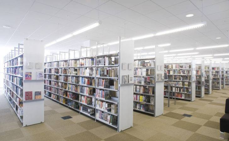 Bci Modern Library Shelving Seen Champaign Public