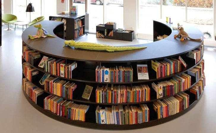 Bci Steel Radius Shelving Great Modern Library Design