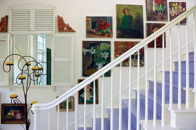 Beach Cottage Shabby Chic Staircase Los Angeles Alison