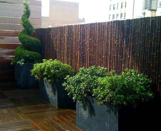 Beautiful Bamboo Garden Fence Ideas Privacy Wooden Deck Plants Pots