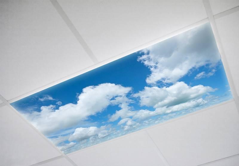 Beautiful Cloud Fluorescent Light Diffuser Cover
