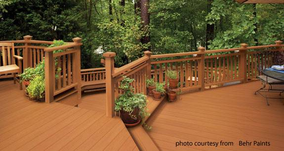 Beautiful Deck Painted Behr Deckover Paint