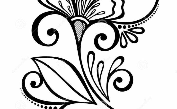 Beautiful Decorative Flower Leaves Vector Patterned Design