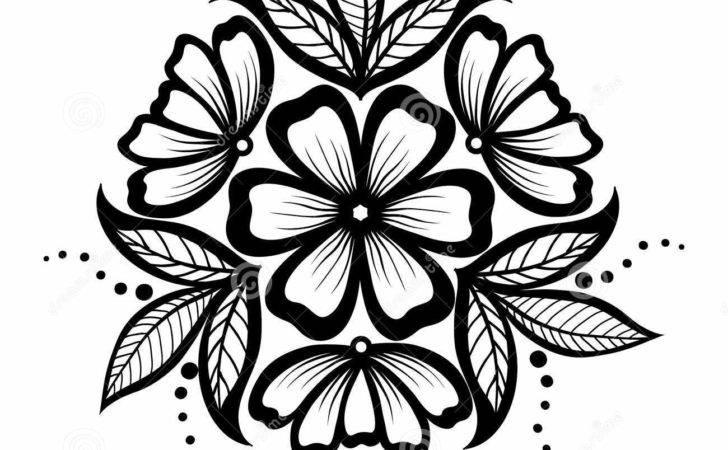 Beautiful Floral Pattern Design Element Old Style