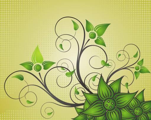 Beautiful Flower Vector Graphic Texture Stylish Nature Swirls