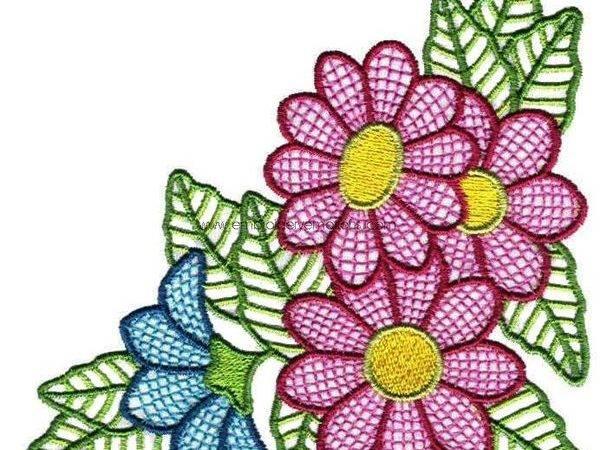 Beautiful Flowers Machine Embroidery Designs Behance