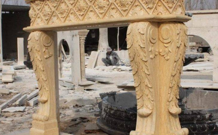 Beautiful Hand Carved Marble Fireplace Mantel Ornate Ebay
