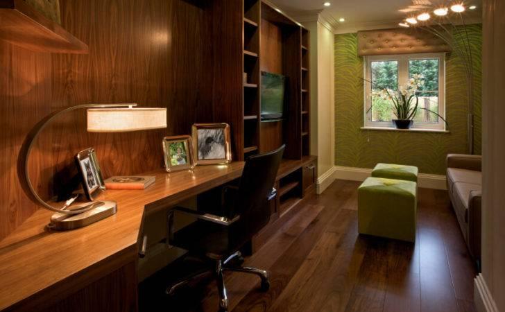 Beautiful Home Office Built Desk Small Area