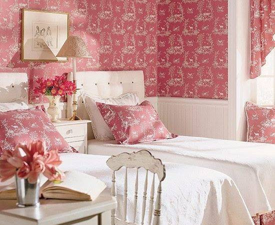 Beautiful Hooked Toile Girls Room Featured