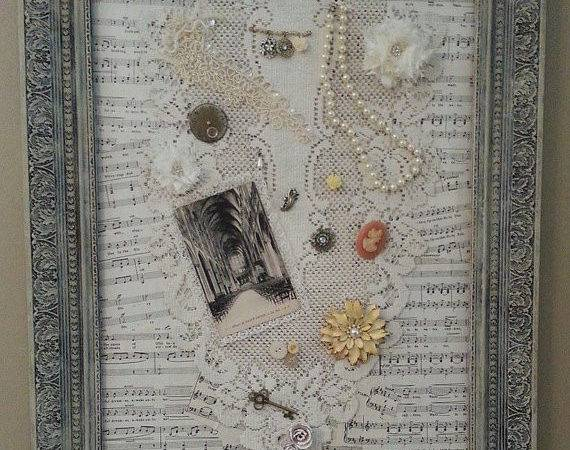 Beautiful Ooak Shabby Chic Collage Ornate Frame