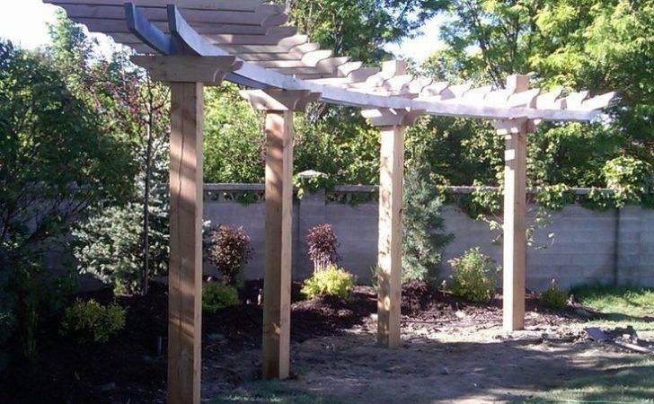 Beautiful Simple Curved Pergola Slideshow Its Construction