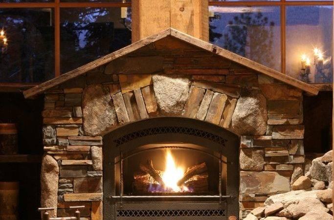 Beautiful Stone Fireplaces Rock