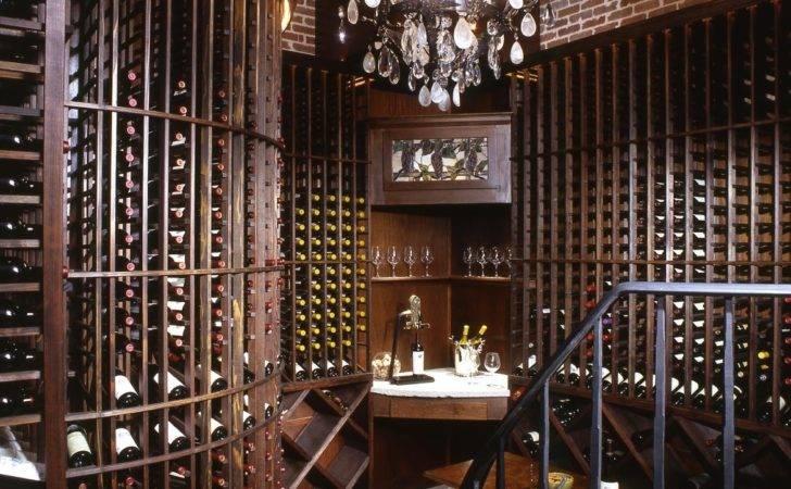 Beautiful Sunken Wine Room Directly Off Dining