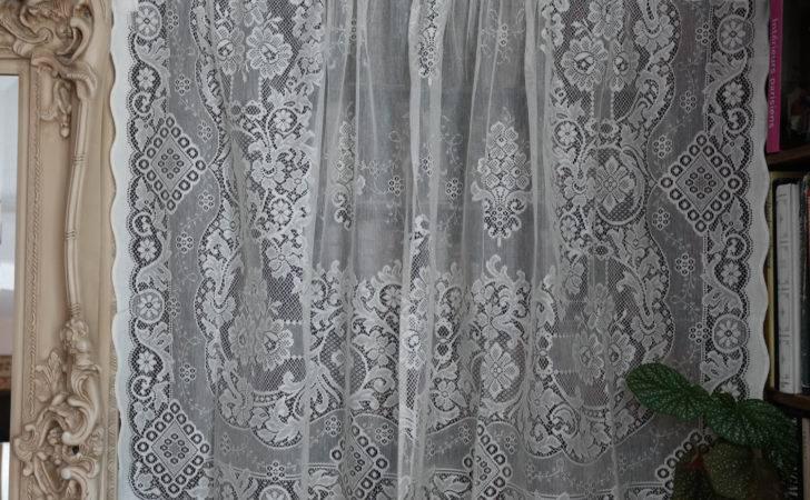 Beautiful Victorian Design Cotton Lace Curtain Panel