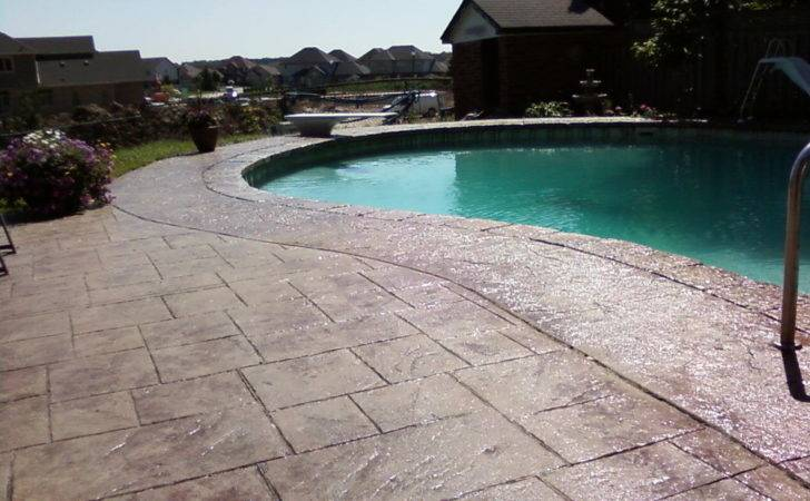Beautify Your Living Space Stamped Concrete Around Pool