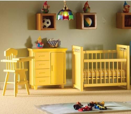 Beauty Yellow Nursery Baby New Home Scenery