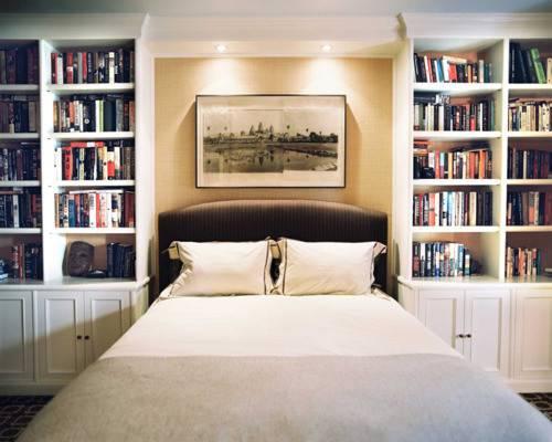 Bed Bedroom Books Bookshelf Cabinets Clean Crisp Design Frame