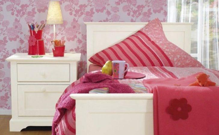 Bed Bedroom Design Flower Girl Girls