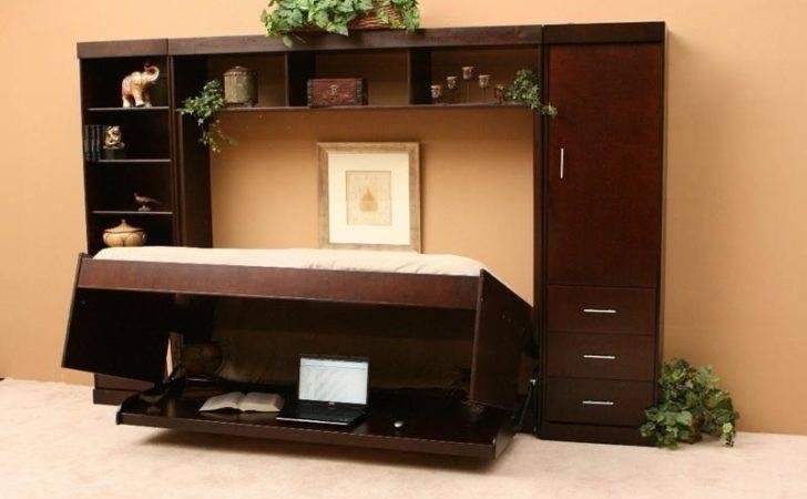 Bed Desk Cream Murphy Beds Ikea Modern