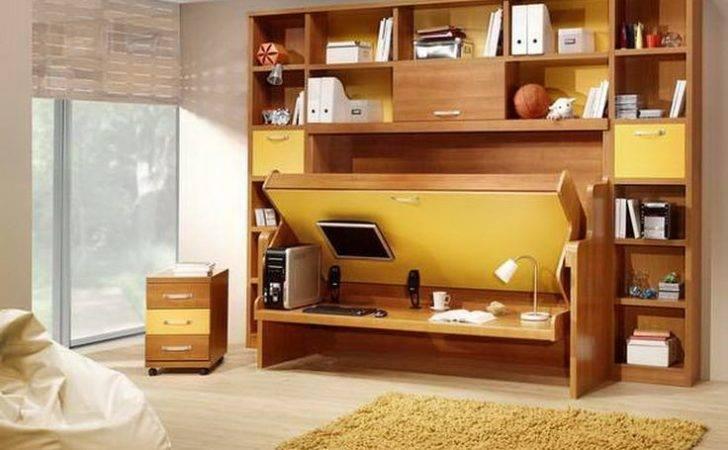 Bed Desk Diy Murphy Ikea Fur Rug Make Simple Room