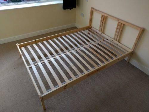 Bed Frame Great Condition Slats Earl Ikea Fjellse