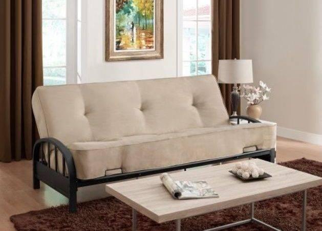 Bed Frame Metal Dhp Aiden Black Round Arm Mesh Large Sofa
