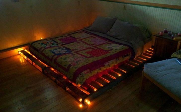 Bed Frame Plans Lights Wood Pallet