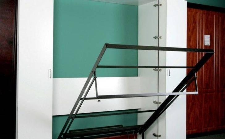 Bed Ikea Pinterest Murphy Beds Diy Hideaway