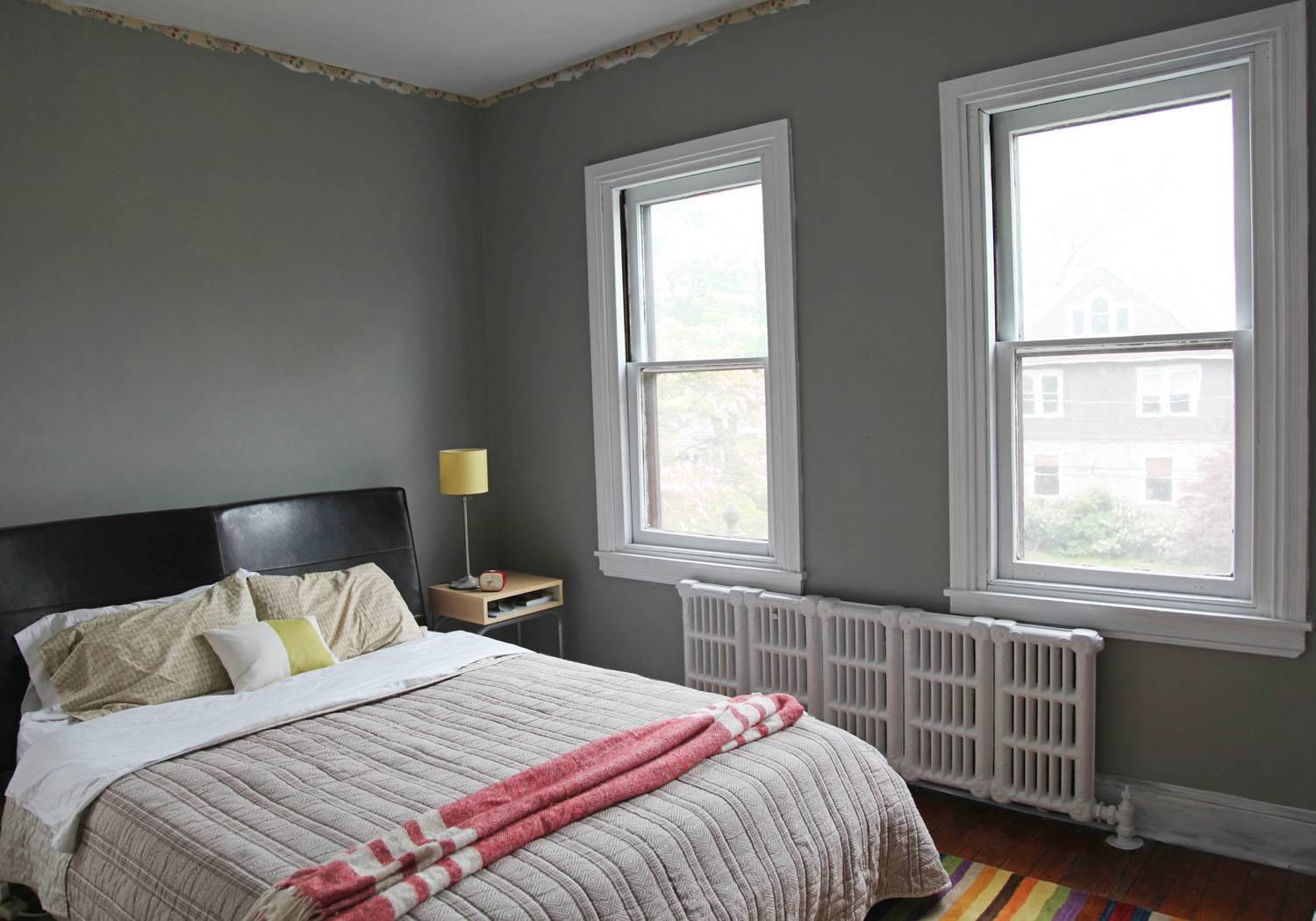 Bedroom Colors Grey Walls Antique Purple Quilt Master