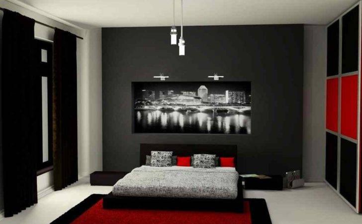 Bedroom Design Red Black Ideas White
