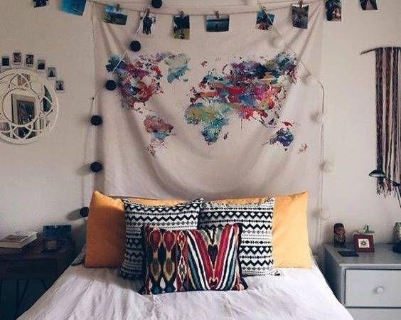 Bedroom Dream Ideas Map Wall Decor Room Urban