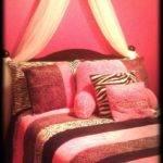 Bedroom Elegant Pink Zebra Using Light White Black