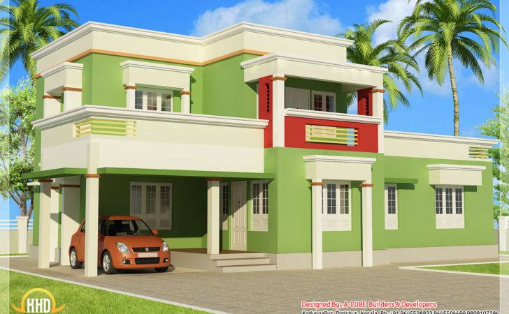 Bedroom Flat Roof Home Design Indian Decor