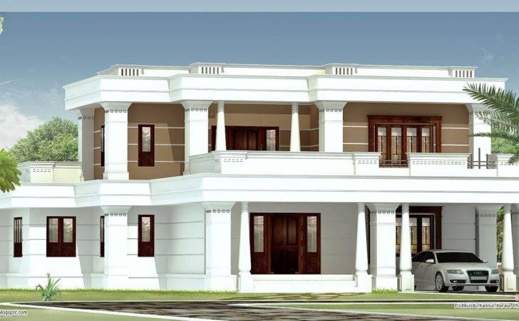 Bedroom Flat Roof Villa House Design Plans