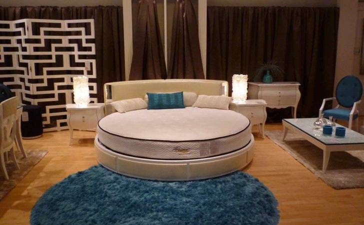 Bedroom Furniture Contemporary Gabriela Round Bed