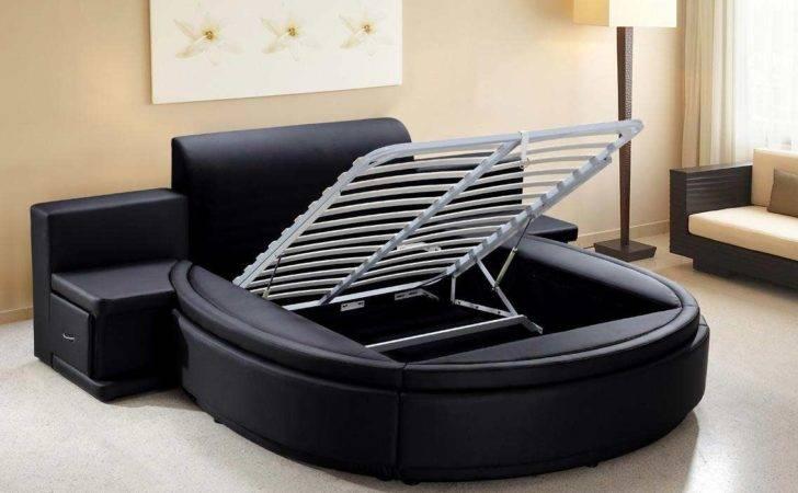 Bedroom Furniture Modern Aiden Black Round Bed