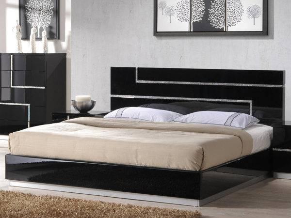 Bedroom Set Lighted Headboard Including Super King Bed Frame