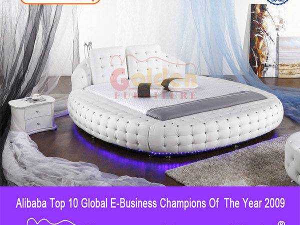 Bedroom Sets Round Bed Led Lights Furniture