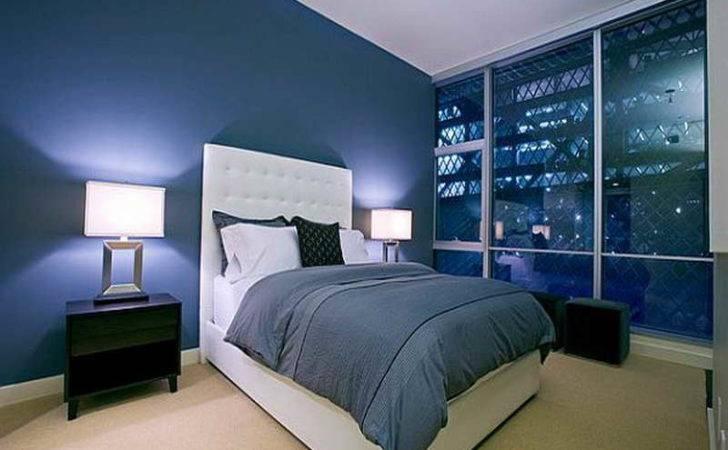 Bedroom Special Design Dark Blue Ideas Grey Carpet