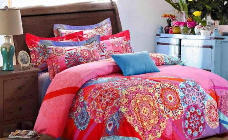 Bedroom Tribal Print Bedding Teenage Girls Peach Pink