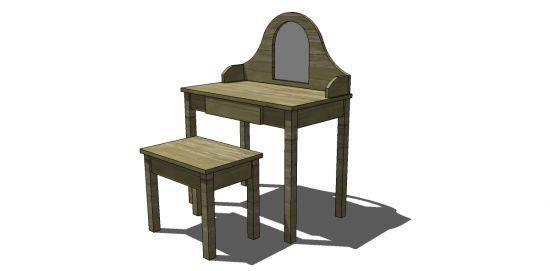 Bedroom Vanity Woodworking Plans Projects