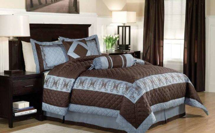 Bedrooms Decorated Brown Blue