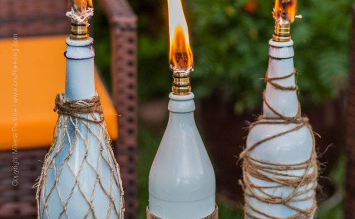 Beer Bottle Tiki Torches Create Ambiance Keep