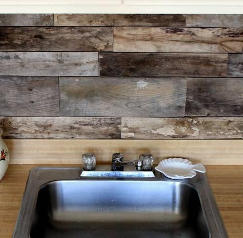 Before After Reclaimed Wood Kitchen Backsplash Design Sponge