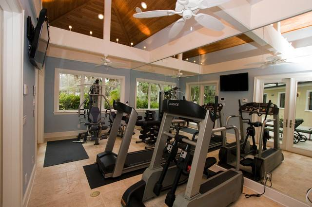 Belleair Whole House Remodel Addition Traditional Home Gym